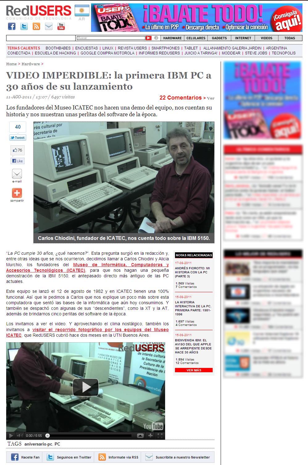 NOTA RedUsers (30 años IBM)